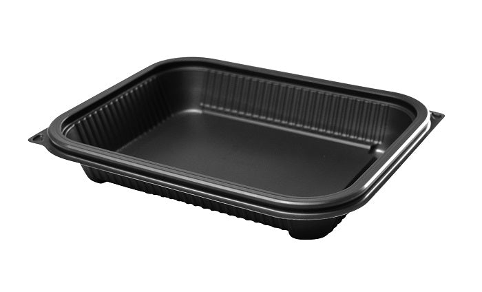 650ml Delux Rectangular Gry Microwave Containers - GM Packaging (UK) Ltd