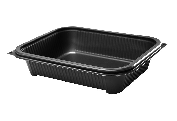 1000ml Delux Rectangular Gry Microwave Containers - GM Packaging (UK) Ltd