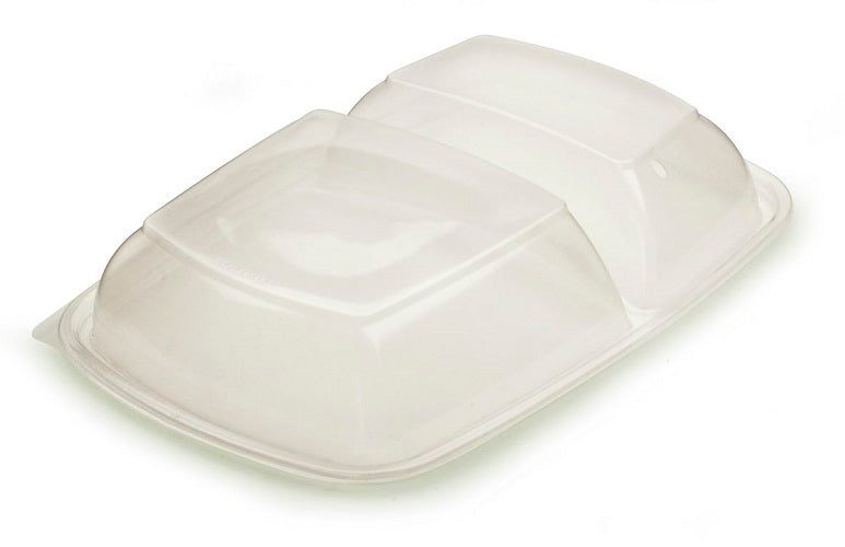 2 Compartment PP Lid to fit Microwave Container - GM Packaging (UK) Ltd
