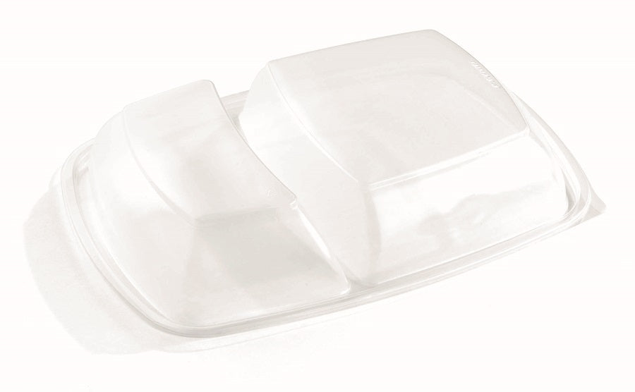 2 compartment PP dome lids - GM Packaging UK Ltd