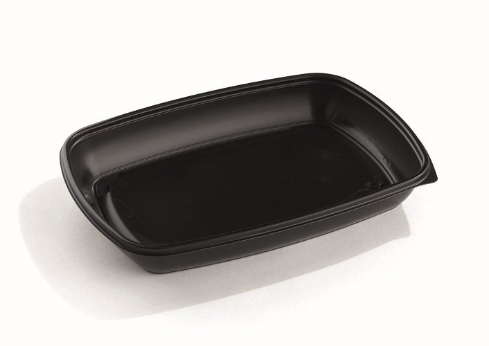 1350ml Rectangular Black Microwave Containers - GM Packaging (UK) Ltd