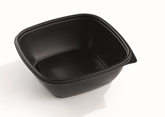 750cc square black microwave bowls - GM Packaging