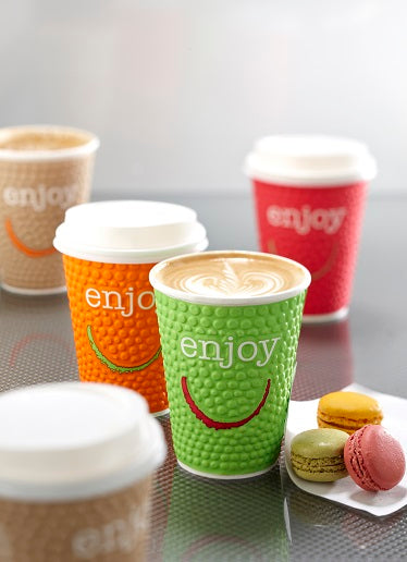 16oz Enjoy Coffee Paper Cups - GM Packaging (UK) Ltd
