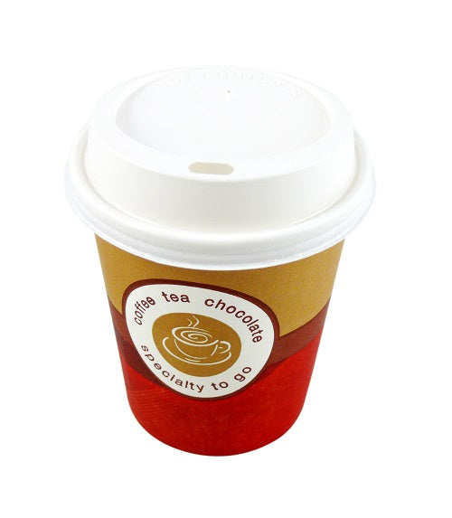 90mm white plastic coffee lids - GM Packaging UK Ltd