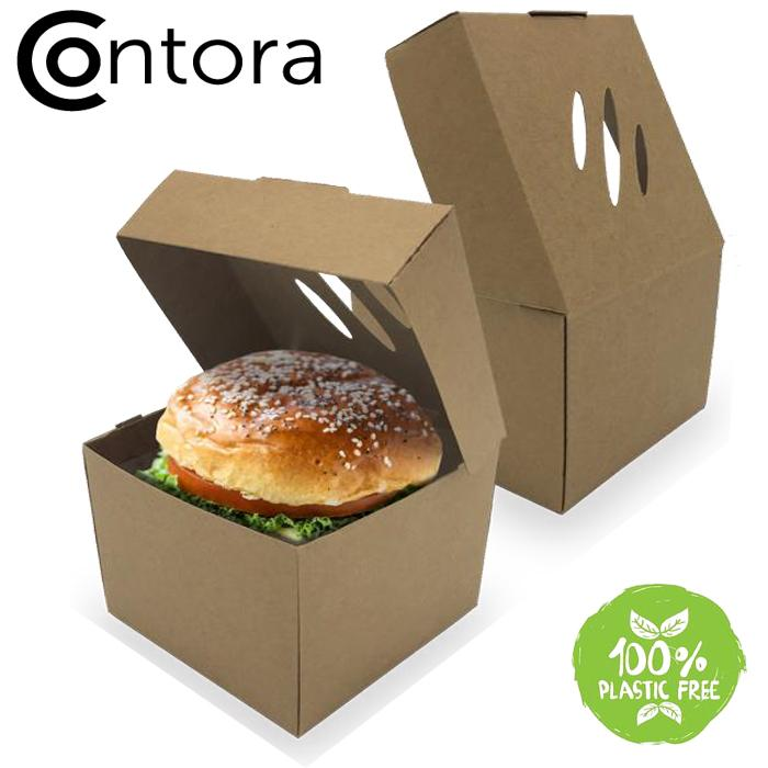 Contora Large Burger Carton - GM Packaging (UK) Ltd
