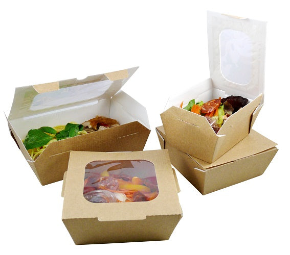 42.3oz Carry Out Boxes with window - GM Packaging (UK) Ltd