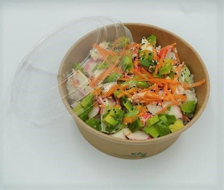 165mm PET lid to fit 1000ml Kraft Salad Bowl - GM Packaging (UK) Ltd