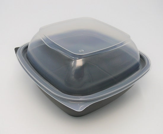 750ml Square Black Microwave Bowls - GM Packaging (UK) Ltd