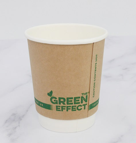 8oz KRAFT Plastic Free Compostable Coffee Cups - GM Packaging (UK) Ltd
