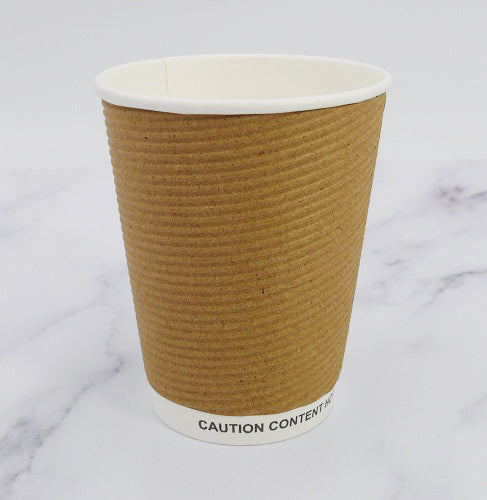 12oz Kraft Ripple Cups - GM Packaging (UK) Ltd