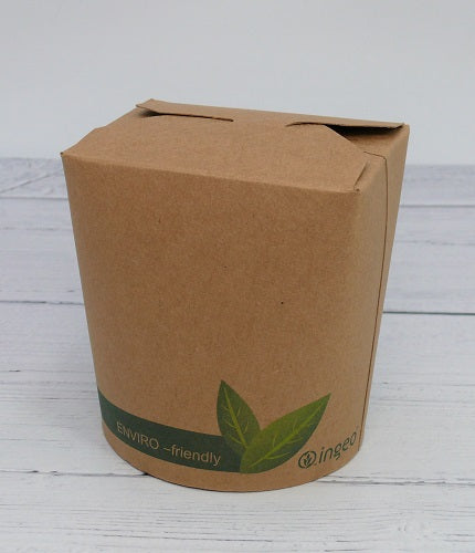 16oz Compostable Round Kraft Food Pots - GM Packaging (UK) Ltd