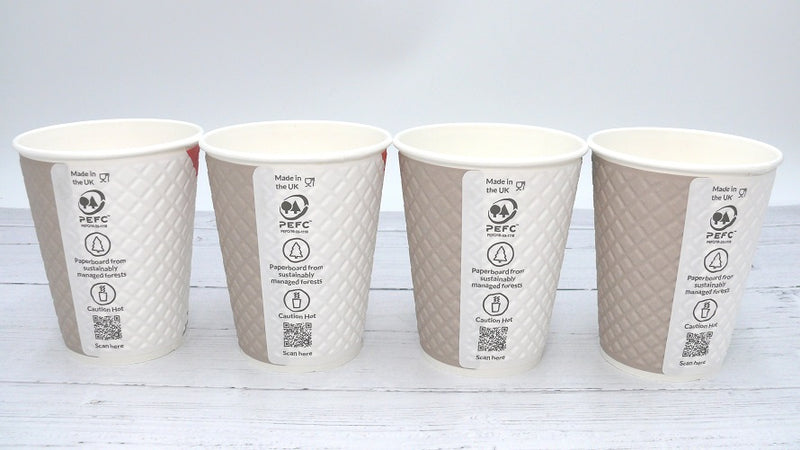 12oz PAUSE Coffee Paper Cups - GM Packaging (UK) Ltd