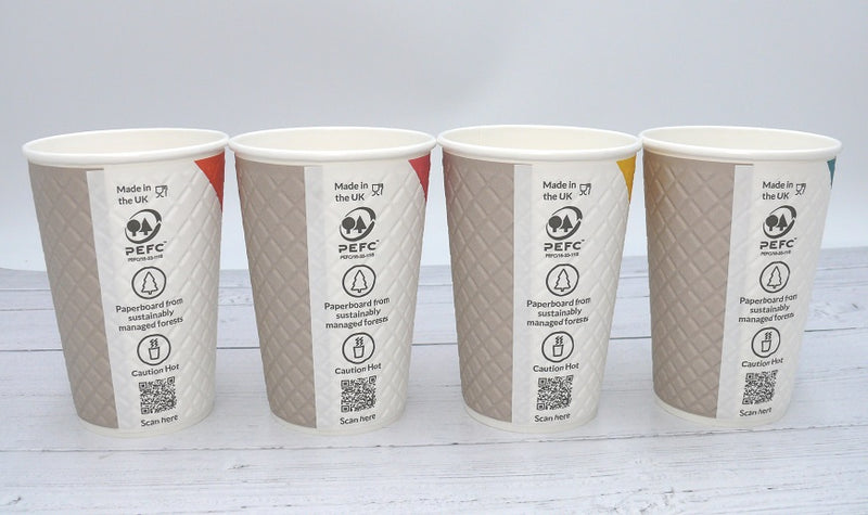 16oz PAUSE Coffee Paper Cups - GM Packaging (UK) Ltd