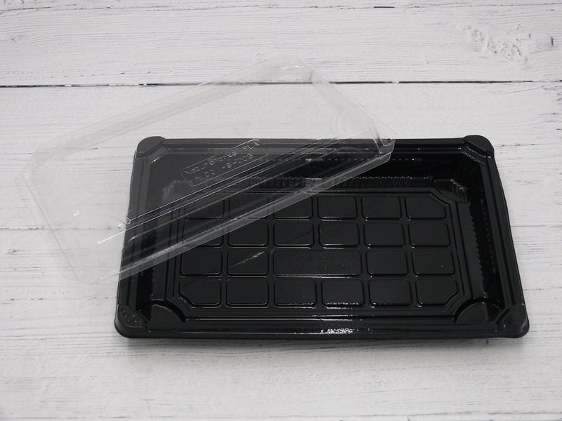 130x180mm Biodegradable Sushi Containers with Lids - GM Packaging (UK) Ltd
