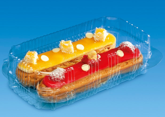 2 Eclair Cake Hinged Container - GM Packaging (UK) Ltd