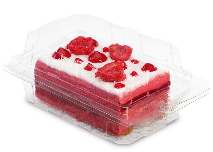 Single Cake Slice Hinged Container - GM Packaging (UK) Ltd