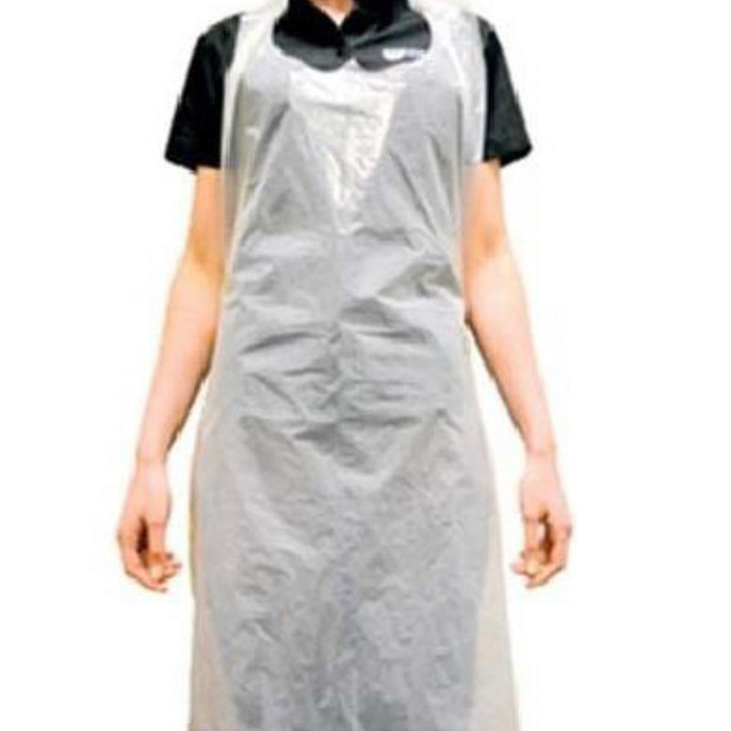 White PE Aprons 12 micron x 500 - GM Packaging (UK) Ltd