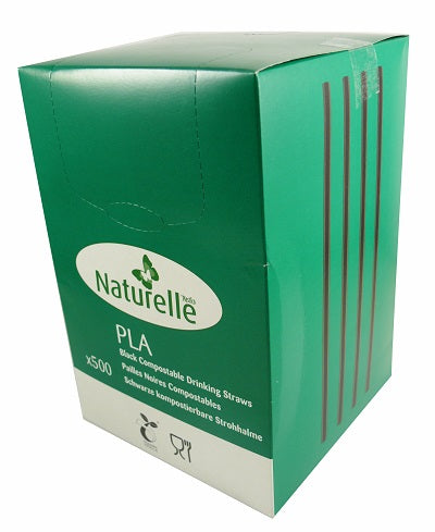 6x200 mm PLA Compostable Straws - GM Packaging (UK) Ltd