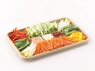 Large Rectangular Pulp Platters with Lids - GM Packaging (UK) Ltd