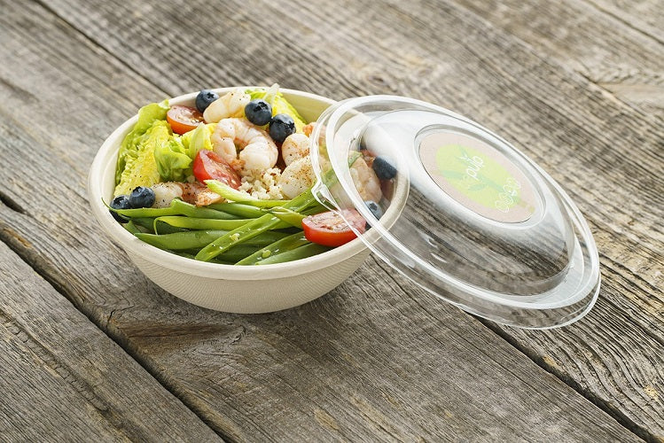 rPET Lid fit 750/1000ml Buddha Bowl - GM Packaging (UK) Ltd