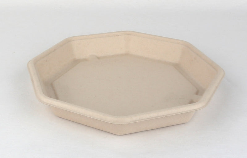 830ml Pulp Octagonal Plate - GM Packaging (UK) Ltd