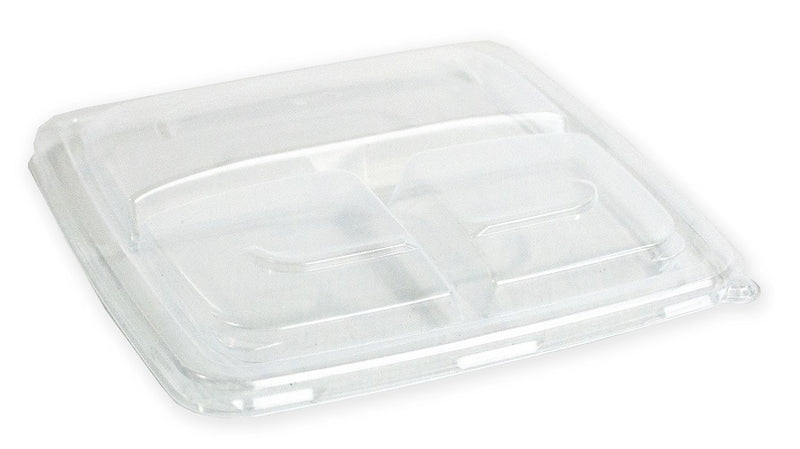 3 Compartments PP Microwave Lids - GM Packaging (UK) Ltd