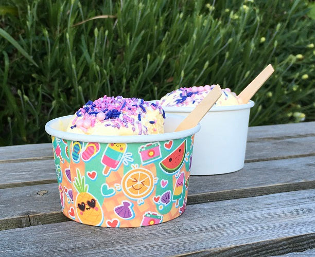 8oz compostable ice cream tubs - GM Packaging UK Ltd