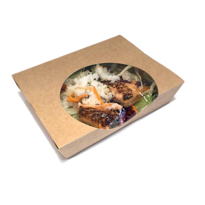 Large Kraft Cardboard Salad Boxes - GM Packaging (UK) Ltd