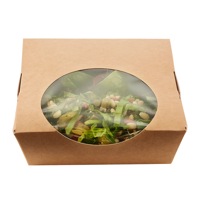 Small Brown Kraft Paper Salad Boxes - GM Packaging (UK) Ltd