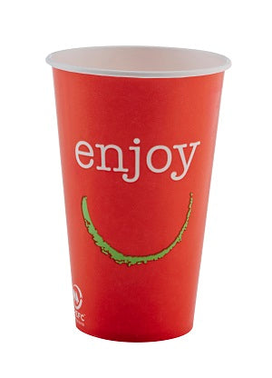 16oz Enjoy Paper Cold Cups/1000