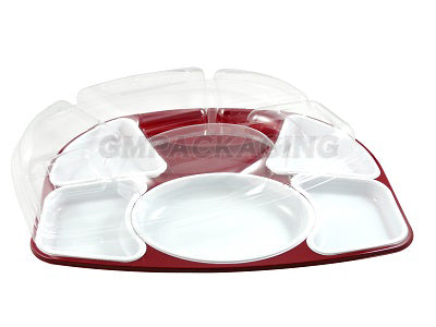 Meal Tray, 5 White inserts with Lids - GM Packaging UK Ltd