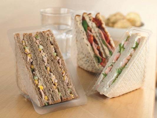 Triple Fill Plastic Sandwich Containers - GM Packaging (UK) Ltd