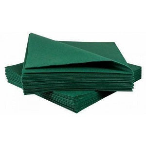 40cm Forest Green Airlaid Tissue Napkins - GM Packaging (UK) Ltd