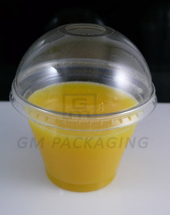 9oz Plastic Smoothie Cup with Dome Lid/1000s