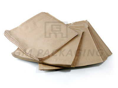 8 x 8 Medium Brown Strung Paper Bags - GM Packaging (UK) Ltd