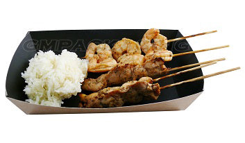 Kraft and Black open food tray - GM Packaging (UK) Ltd
