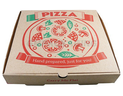 9 inch Printed Brown Pizza Boxes
