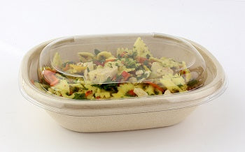 Oval PET lids to fit 620ml/770ml pulp bowls - GM Packaging UK Ltd
