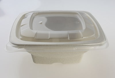 Square PP Lid to fit 750ml Square Bowls - GM Packaging UK Ltd
