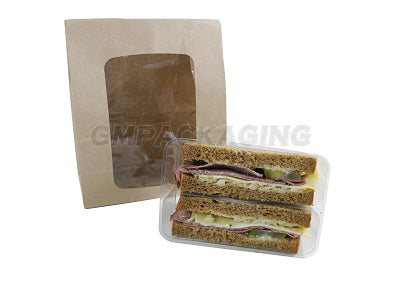 150x75x220mm Brown Paper Sandwich Bags - GM Packaging (UK) Ltd