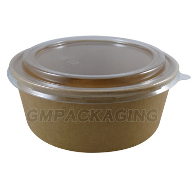 PET Dome Lid to fit 1300ml kraft bowls - GM Packaging (UK) Ltd