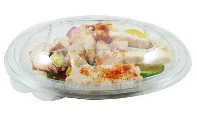 370cc Oval Plastic Salad Container SLV