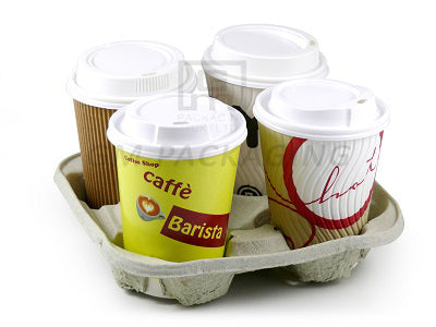 4 Cup Carriers (Moulded Fibre) - GM Packaging (UK) Ltd