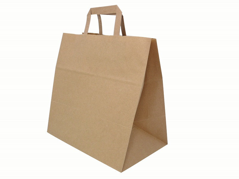 Medium Kraft Patisserie Carrier Bags - GM Packaging UK Ltd