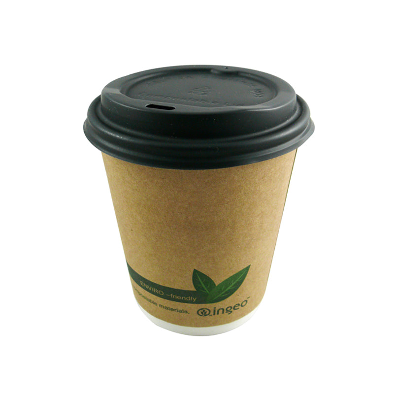 80mm black compostable lid - GM Packaging UK Ltd