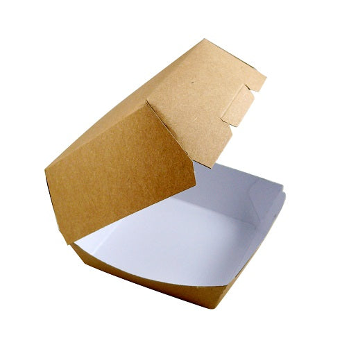 Large Kraft Burger Box - GM Packaging (UK) Ltd