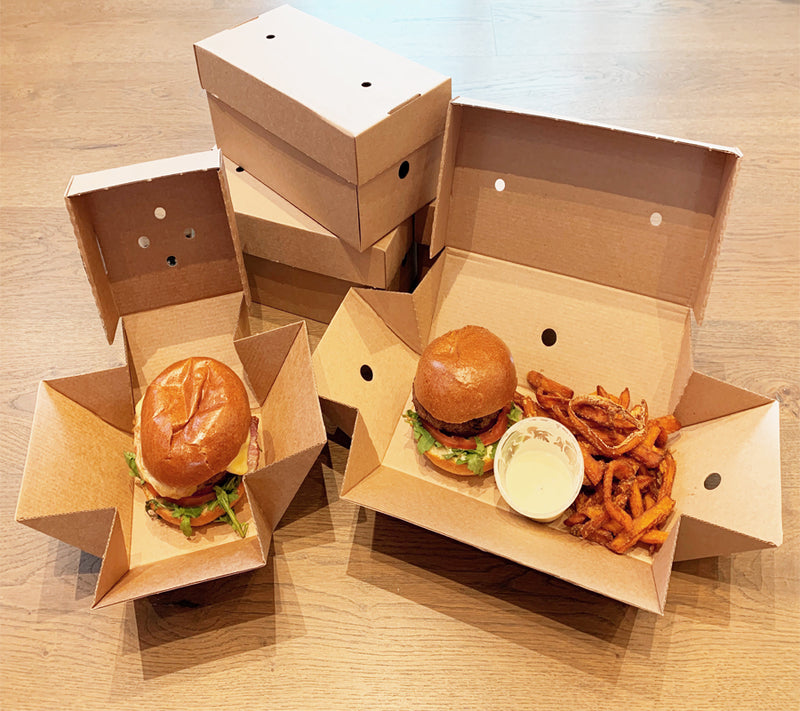 Corrugated Burger and Fries Box - GM Packaging (UK) Ltd