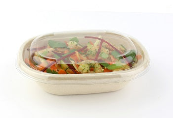 Oval PET lids to fit 620ml/770ml pulp bowls/300s