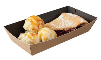 Kraft and Black open food tray - GM Packaging UK Ltd
