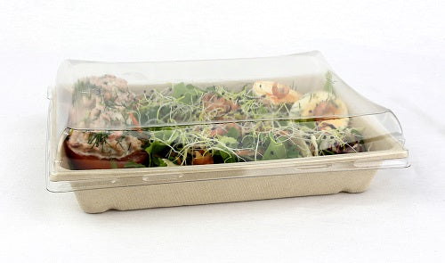 Dome Lid to fit 750ml Pulp Rectangular container - GM Packaging UK Ltd